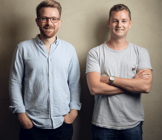 Samuel O'Connor and Adam Goodall co-founders of Coconut.