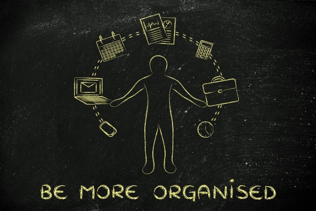 Three Ways To Get Organised
